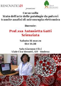 Corso sullo Stato dell'arte delle patologie da polveri Antonietta Gatti